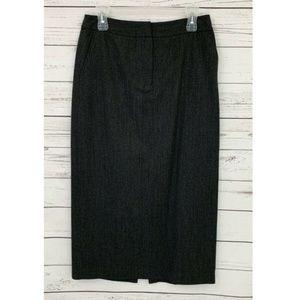 Rafaella Maxi Pencil Skirt Long 100% Wool Gray